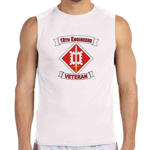 18th engineer brigade veteran white sleeveless shirt