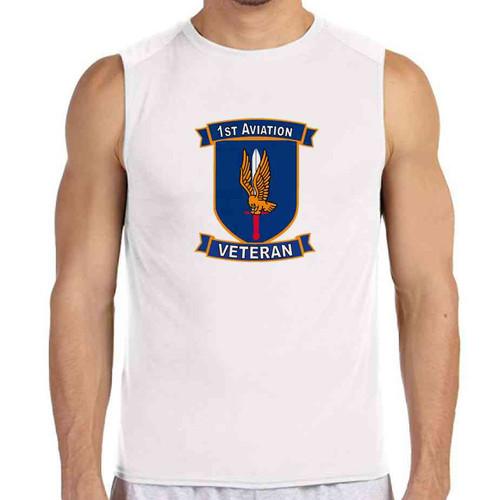 1st aviation veteran white sleeveless shirt