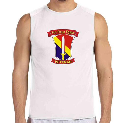 1st field force veteran white sleeveless shirt