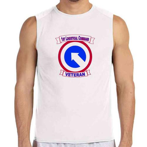 1st logistical command veteran white sleeveless shirt