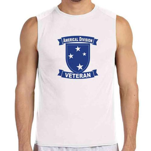 23rd infantry division veteran white sleeveless shirt