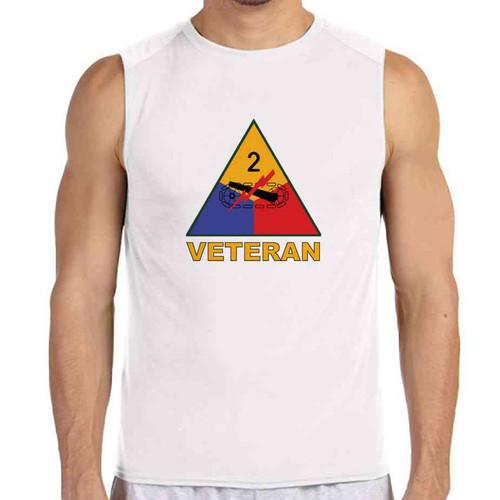 2nd armored division veteran white sleeveless shirt