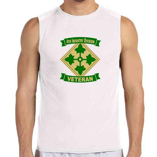 4th infantry division veteran white sleeveless shirt