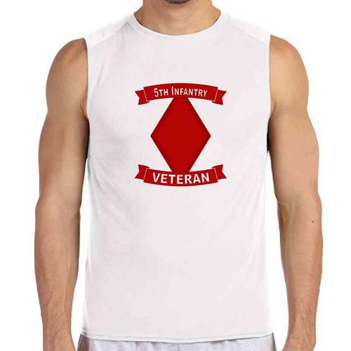 5th infantry division veteran white sleeveless shirt