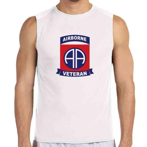82nd airborne veteran white sleeveless shirt