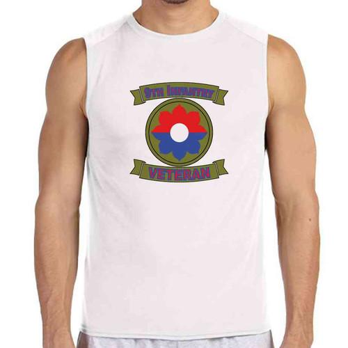 9th infantry veteran white sleeveless shirt