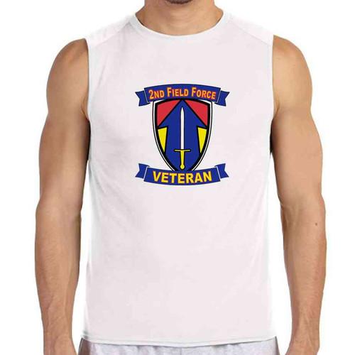 2nd field force veteran white sleeveless shirt