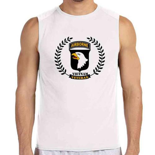 101st airborne vietnam veteran wreath white sleeveless shirt