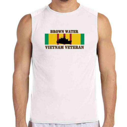 brown water vietnam veteran white sleeveless shirt
