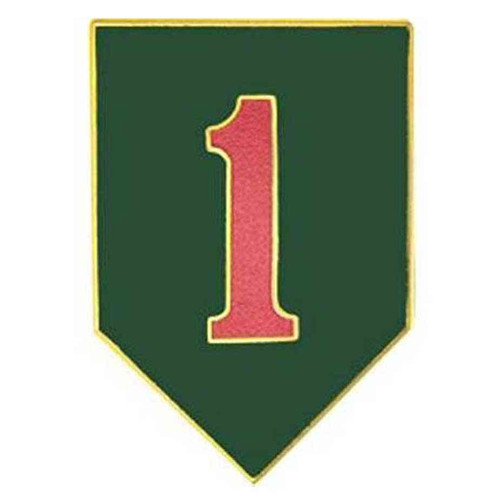 army 1st inf div hat lapel pin