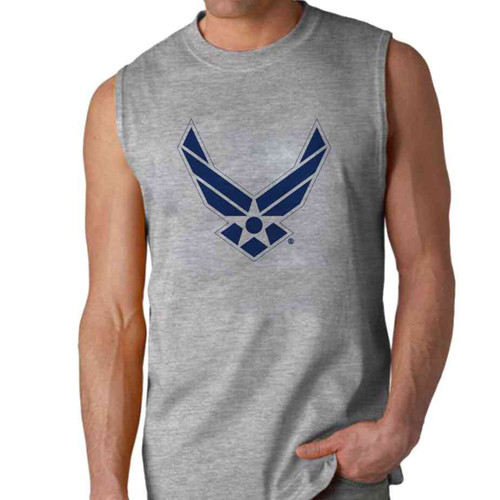 officially licensed u s air force symbol sleeveless shirt