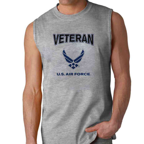 officially licensed u s air force veteran wings sleeveless shirt