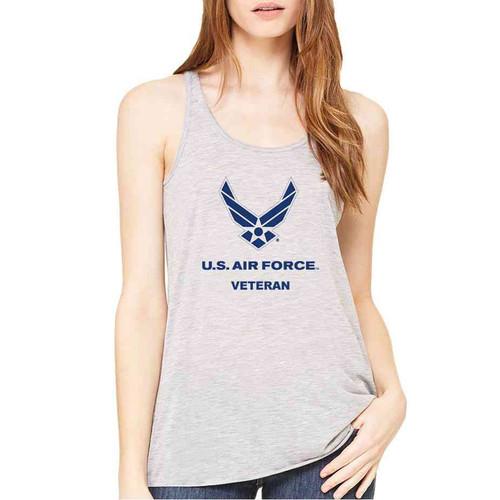 air force veteran ladies grey sleeveless shirt