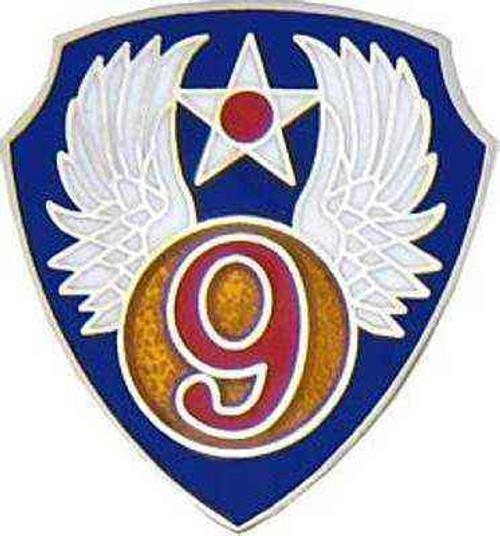 9th air force hat lapel pin