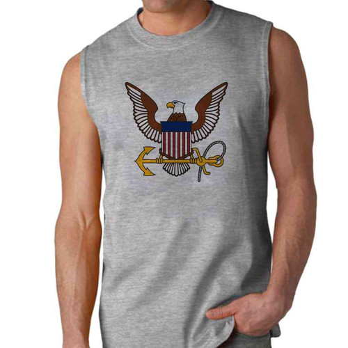 officially licensed u s navy eagle and anchor sleeveless shirt