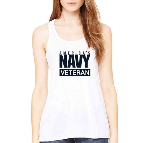 officially licensed u s navy veteran ladies white tank top