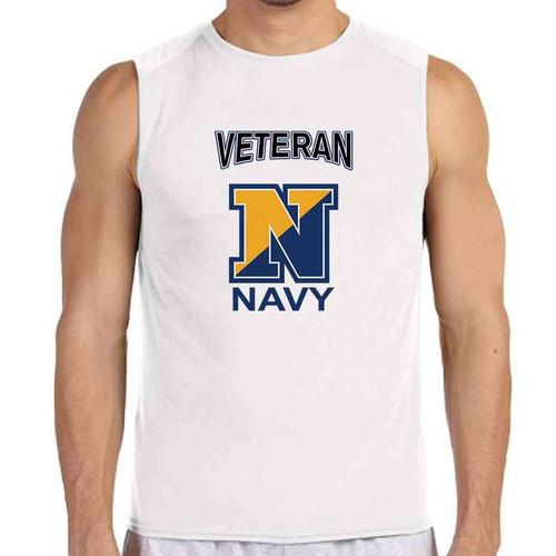 officially licensed u s navy n veteran white sleeveless shirt