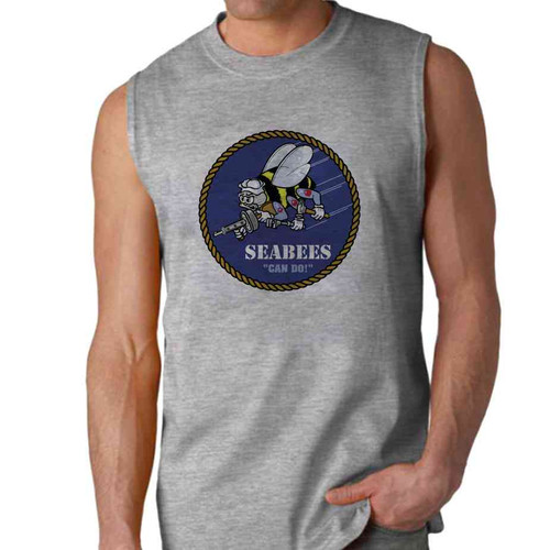 officially licensed u s navy seabees sleeveless shirt