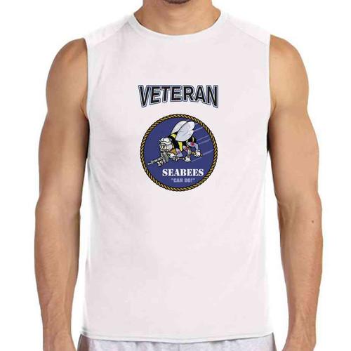 officially licensed u s navy seabees veteran white sleeveless shirt