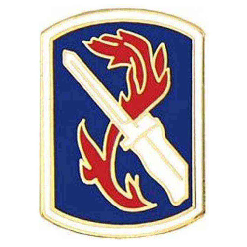 army 198th inf bde hat lapel pin