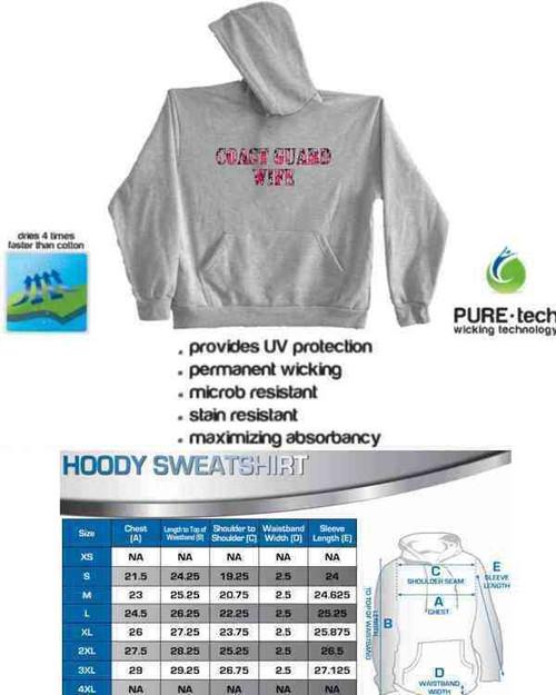 coast guard wife pink camo hoodie sweatshirt