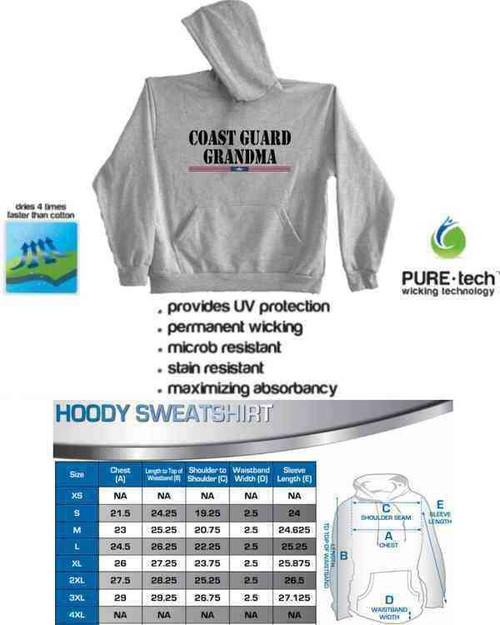 coast guard grandma hoodie sweatshirt