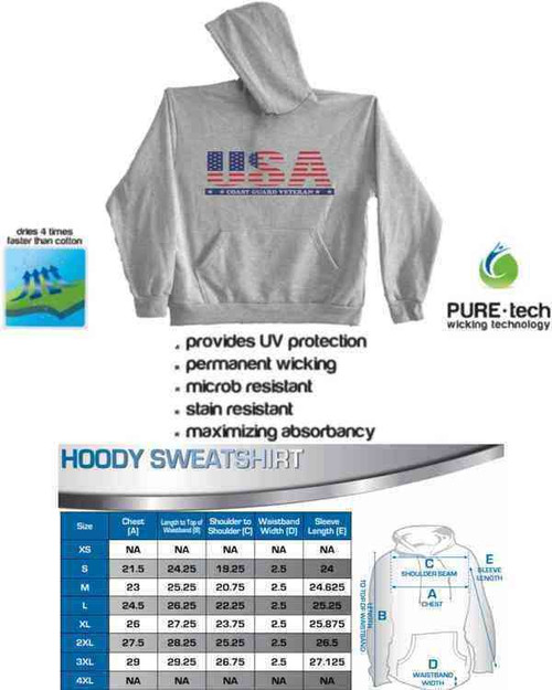usa coast guard veteran hoodie sweatshirt
