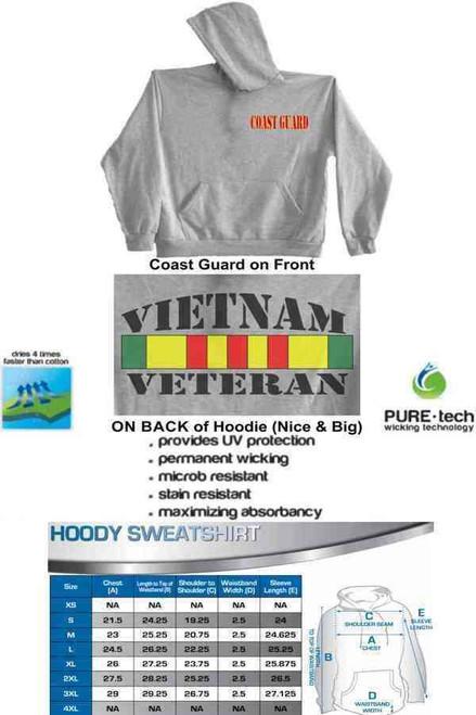 coast guard vietnam vet ribbon hoodie sweatshirt