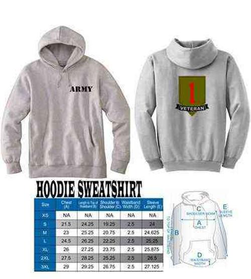 army 1st infantry division veteran hoodie sweatshirt