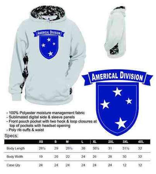 army americal 23rd infantry div performance digital camo hooded sweatshirt
