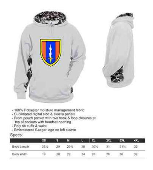 army 1st signal brigade digital hoodie sweatshirt
