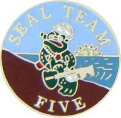 navy seal team 5 hat lapel pin