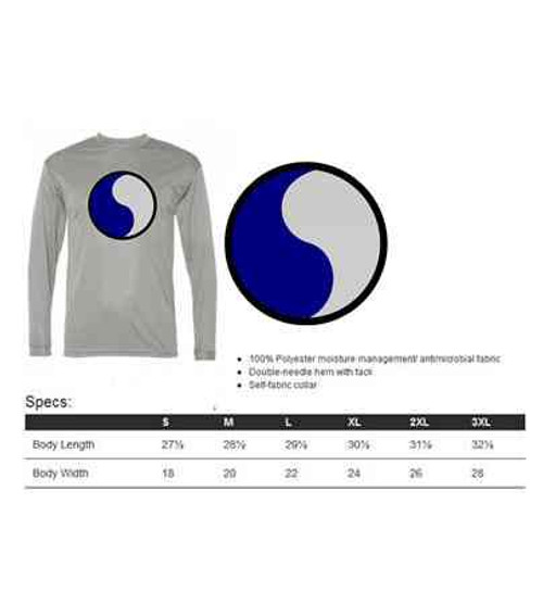 army 29th infantry division performance long sleeve shirt