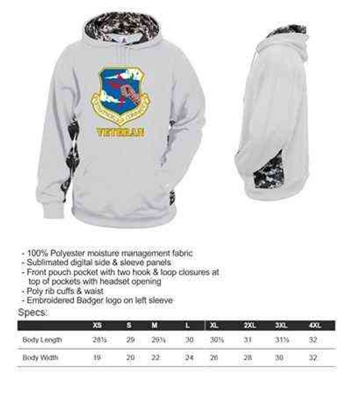 air force s a c veteran performance digital camo hooded sweatshirt