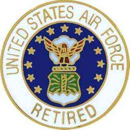 air force retired hat lapel pin