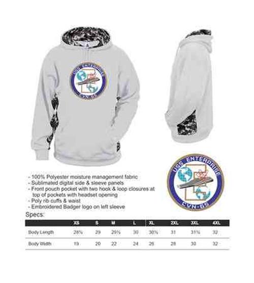 navy uss enterprise digital camo hooded sweatshirt