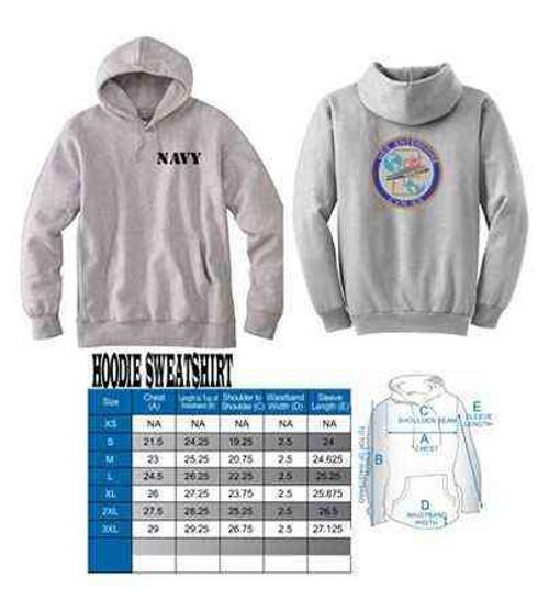 navy uss enterprise hoodie sweatshirt