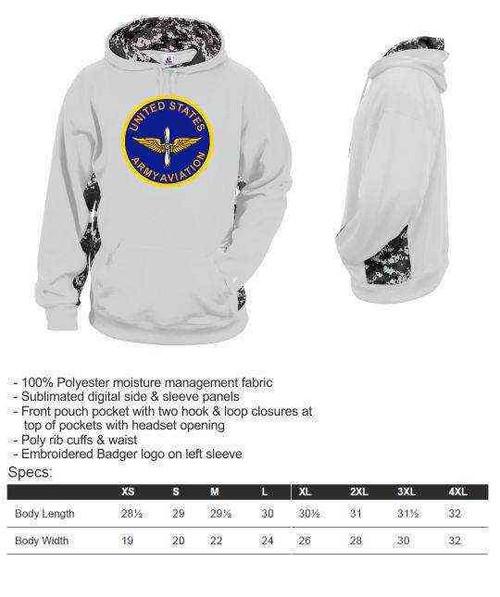 u s army aviation performance digital camo hooded sweatshirt