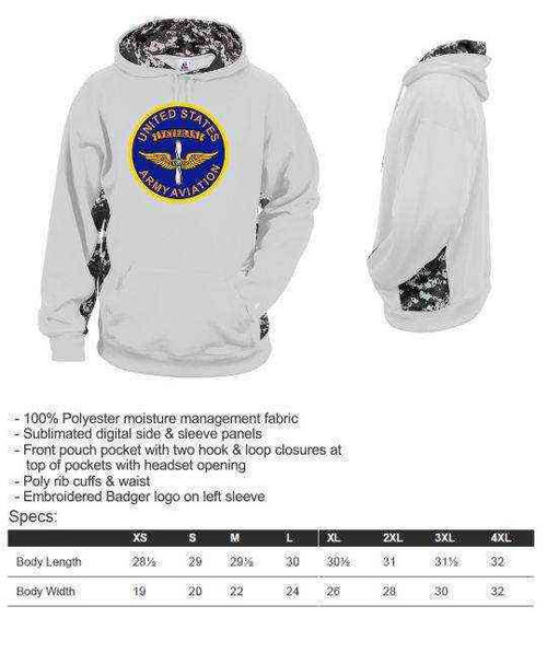 u s army aviation veteran performance digital camo hooded sweatshirt