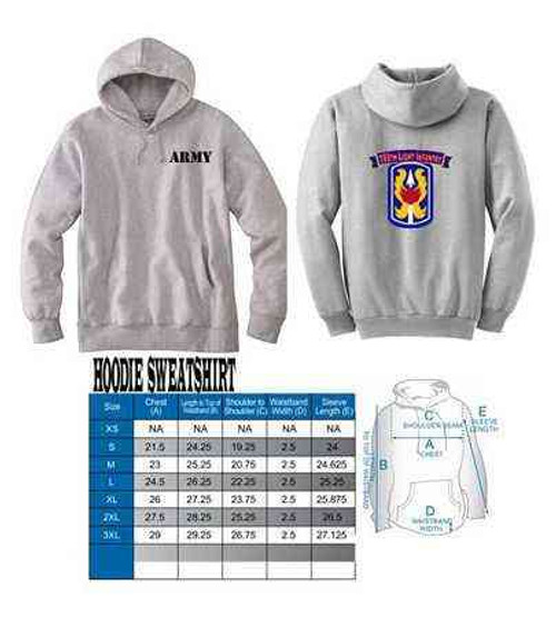 army 199th light infantry hoodie sweatshirt