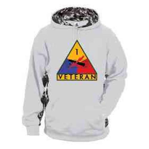 1st armored division veteran performance digital hooded sweatshirt