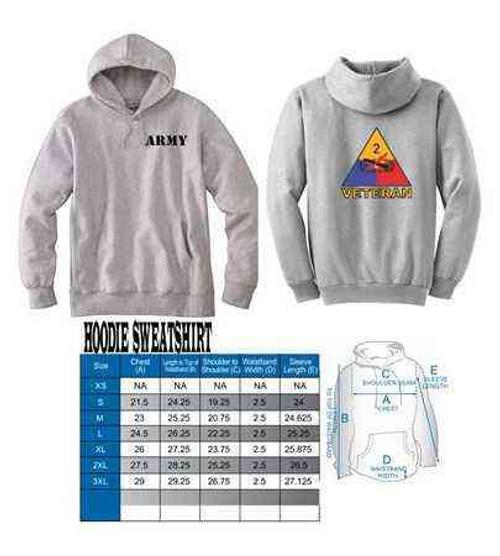 army 2nd armored division veteran hoodie sweatshirt