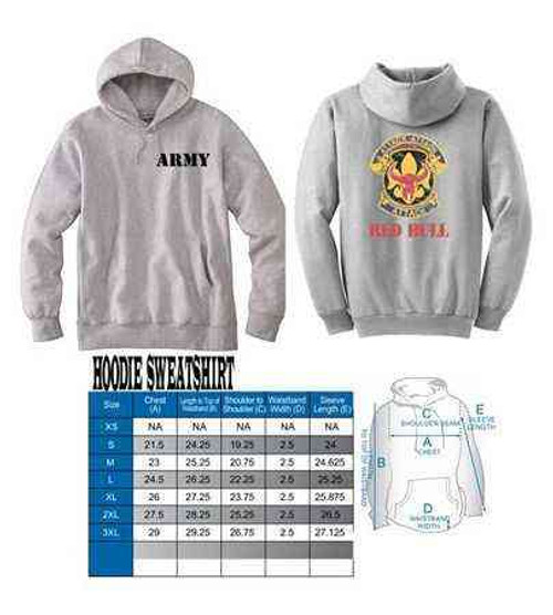 army 34th infantry division distressed hooded sweatshirt