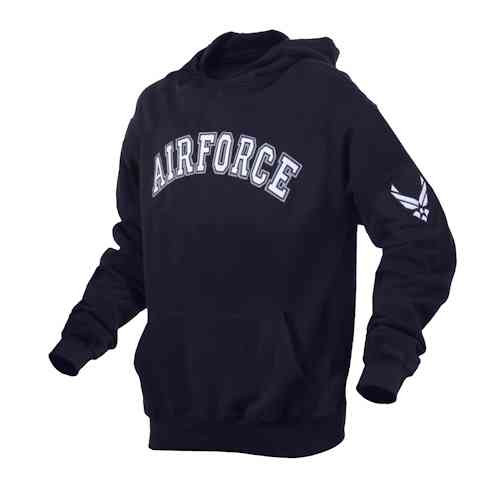 air force embroidered pullover hooded sweatshirt