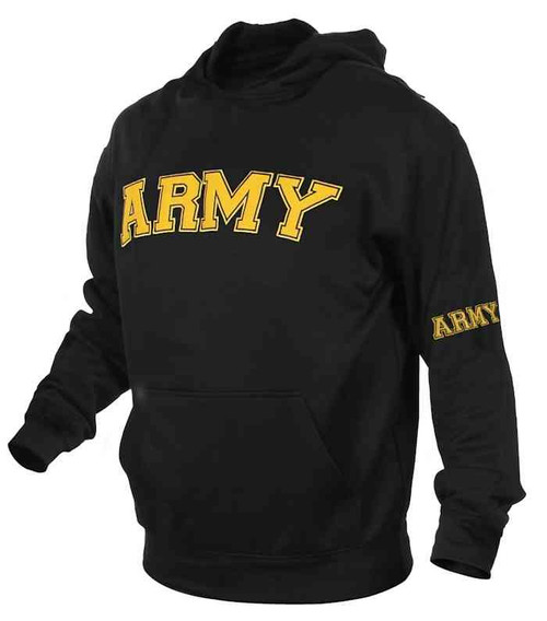u s army embroidered pullover hooded sweatshirt