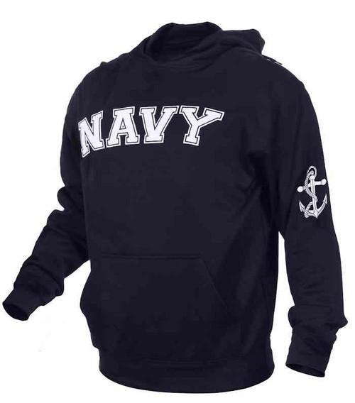 u s navy embroidered pullover hooded sweatshirt
