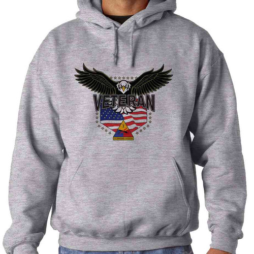1st armored division w eagle hooded sweatshirt