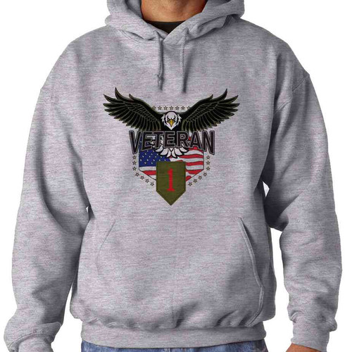 1st infantry division w eagle hooded sweatshirt