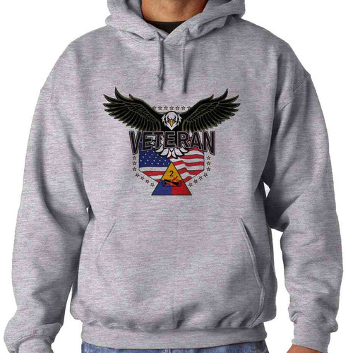 2nd armored division w eagle hooded sweatshirt
