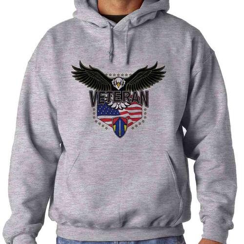2nd field force w eagle hooded sweatshirt